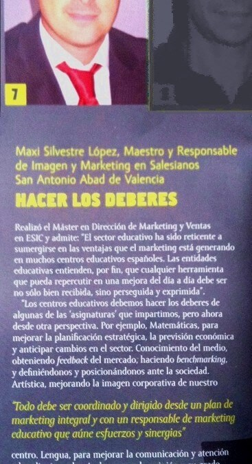 Mi aportación al Especial sobre Marketing Educativo en la revista de Esic